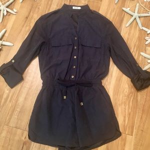 Navy military style romper